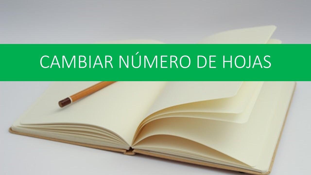 Cambiar número de hojas en Excel