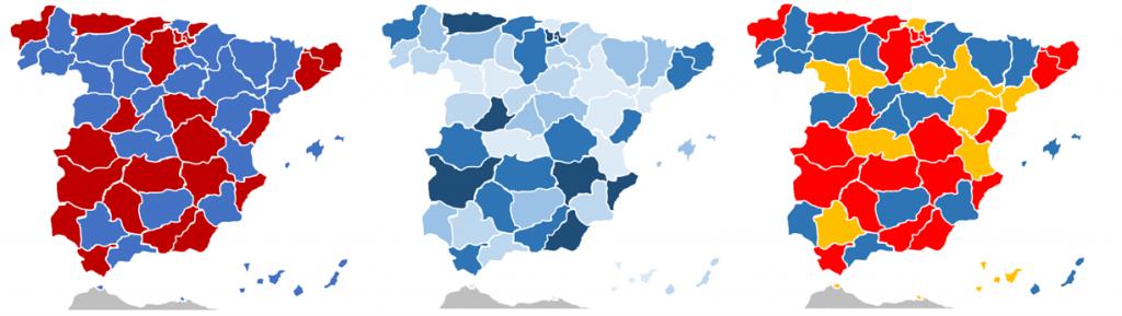 mapa españa provincias excel