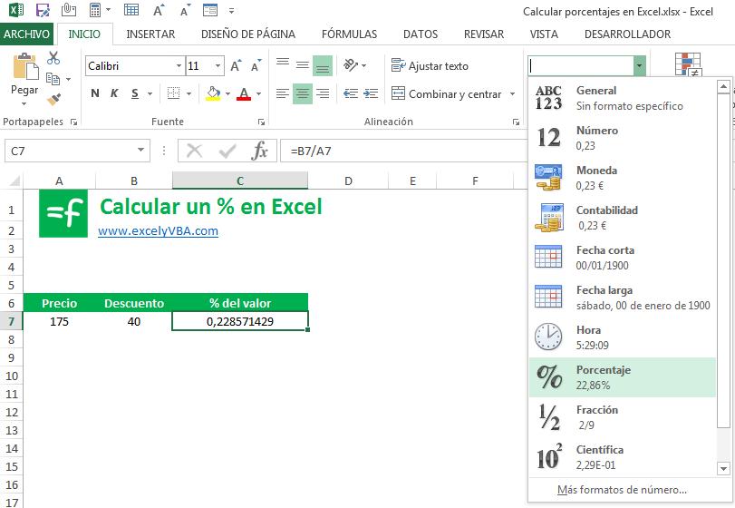 Como Sacar Un Porcentaje En Excel El Método Más Fácil
