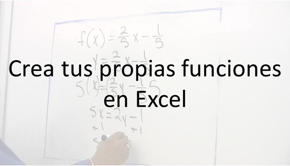 crear funciones en Excel vba