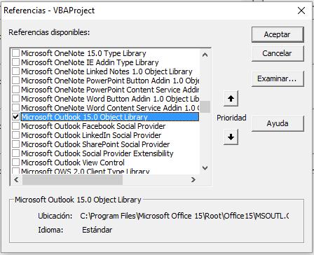 Enviar emails desde Excel usando VBA