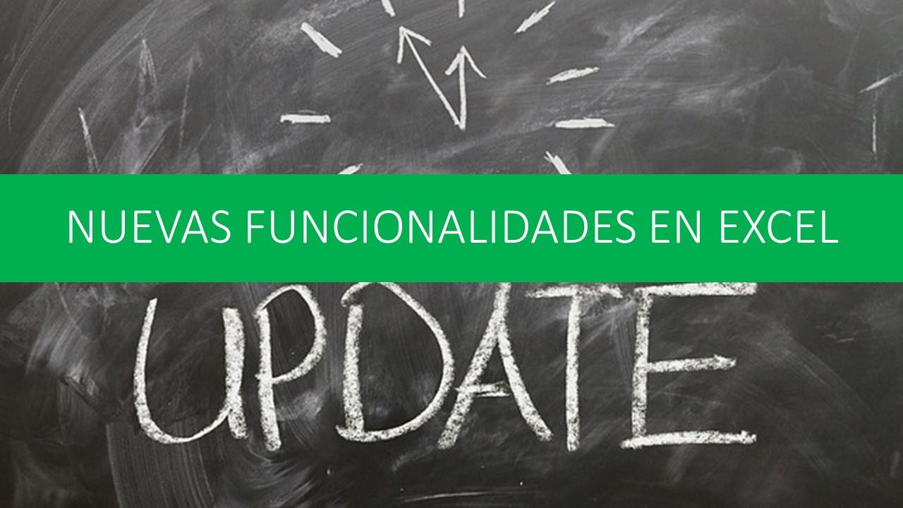 Nuevas funcionalidades de Excel 2016